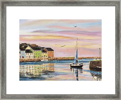 The Long Walk- Evening Sky Framed Print by Vanda Luddy
