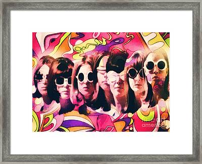 The Look Framed Print by Mo T