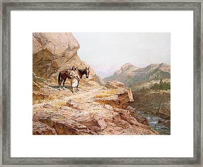 The Look Out Framed Print by Henry Raschen