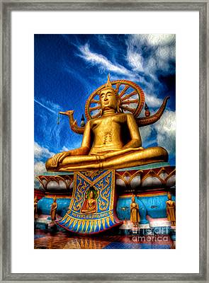 The Lord Buddha Framed Print by Adrian Evans