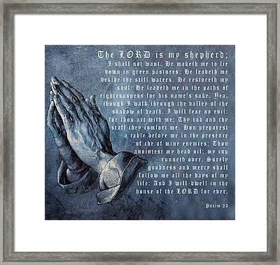 The Lord Is My Shepherd Framed Print by Albrecht Durer