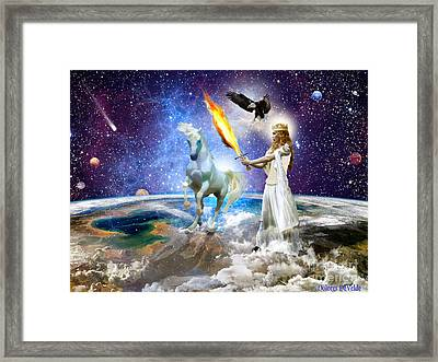 The Lords Handmaiden Framed Print by Dolores Develde