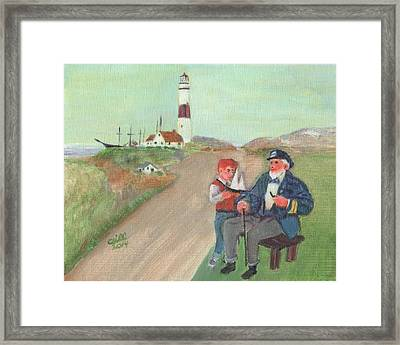 The Lore Of The Sea Framed Print by Cliff Wilson
