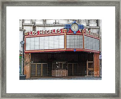 The Los Angeles Theatre Marquee Framed Print by Gregory Dyer
