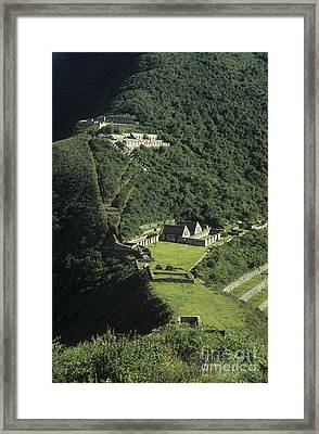 The Lost City Of Choquequirao Framed Print by James Brunker
