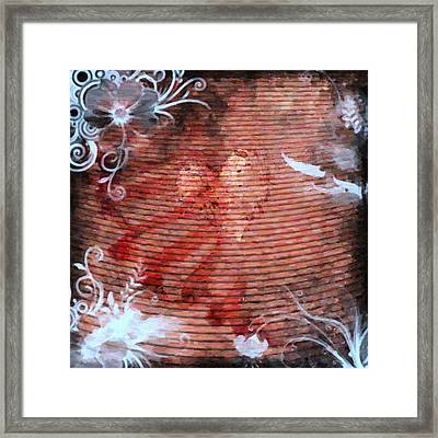 The Lost Heart In Oil Paint Framed Print by Toppart Sweden