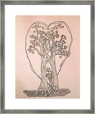 The Love And Celebration Of The Maple Tree Family Framed Print by Patricia Keller