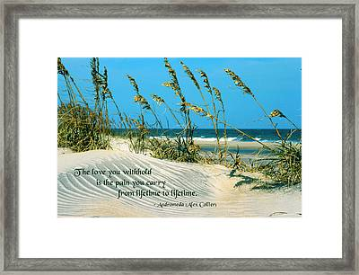 The Love You Withhold Framed Print by Mike Flynn