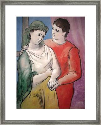 The Lovers Framed Print by Pablo Picasso