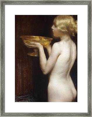 The Loving Cup Framed Print by Janet Agnes Cumbrae-Stewart
