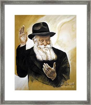 The Lubavitcher Rebbe Framed Print by Yael Avi-Yonah