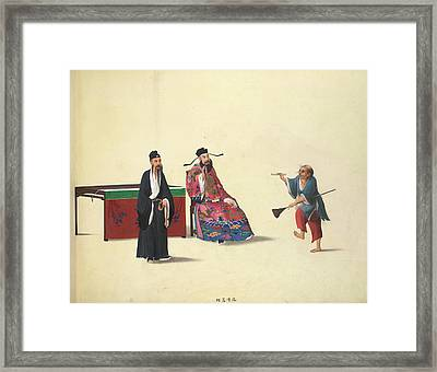 The Mad Monk Framed Print by British Library