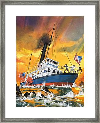 The 'madmen' Of The Mississippi Framed Print by English School
