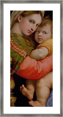 The Madonna Of The Chair Framed Print by Raphael