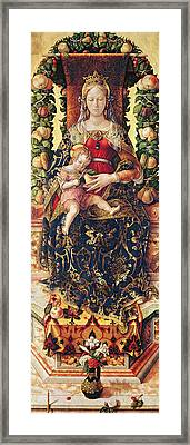 The Madonna Of The Little Candle Framed Print by Carlo Crivelli