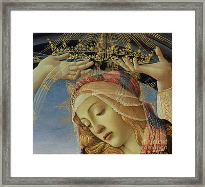 The Madonna Of The Magnificat Framed Print by Sandro Botticelli