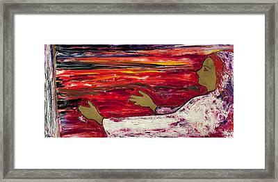 The Magdalene Reaching Framed Print by Roger Barr