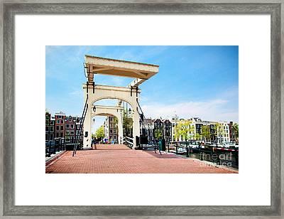 The Magere Brug Skinny Bridge Amsterdam Framed Print by Michal Bednarek