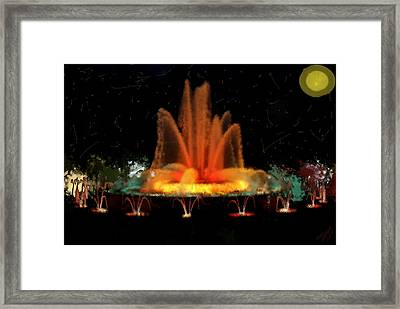 The Magic Fountain Framed Print by Bruce Nutting