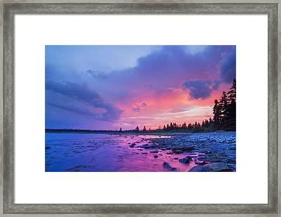 The Magic Hour In Acadia National Park Framed Print by Mircea Costina Photography