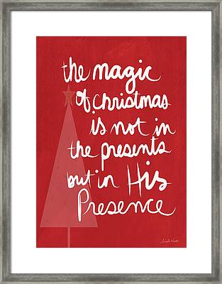 The Magic Of Christmas- Greeting Card Framed Print by Linda Woods