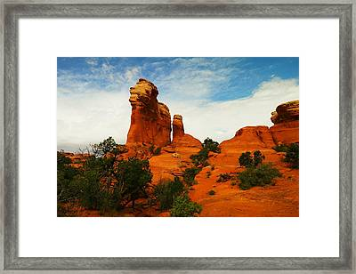 The Magic Of Orange Rock Framed Print by Jeff Swan