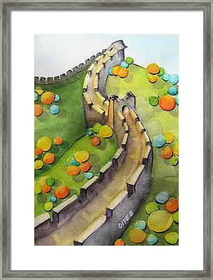 The Magical Great Wall Framed Print by Oiyee At Oystudio