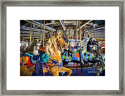 The Magical Machine - Carousel Framed Print by Colleen Kammerer