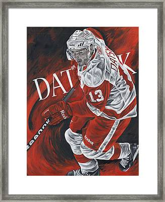 The Magician - Pavel Datsyuk Framed Print by David Courson