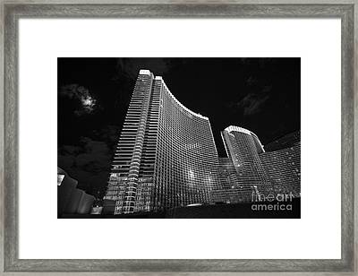 The Magnificent Aria Resort And Casino At Citycenter In Las Vegas Framed Print by Jamie Pham