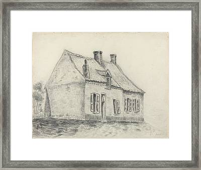 The Magrot House Cuesmes Framed Print by Vincent vang Gogh