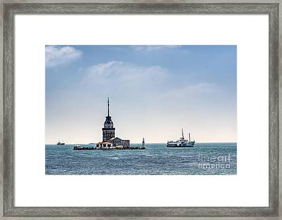 The Maiden's Tower In Istanbul Framed Print by Frank Bach