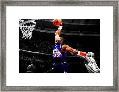 The Mailman Carl Malone Delivery Framed Print by Brian Reaves