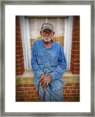 The Mailman Framed Print by Linda Unger