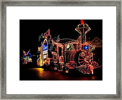 The Main Street Electrical Parade Framed Print by Benjamin Yeager