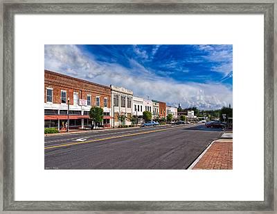 The Main Street - Montezuma Georgia Framed Print by Mark E Tisdale