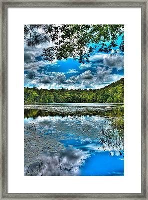 The Majestic Cary Lake In Old Forge Framed Print by David Patterson