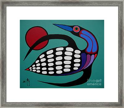 The Majestic Loon Framed Print by Jim Oskineegish