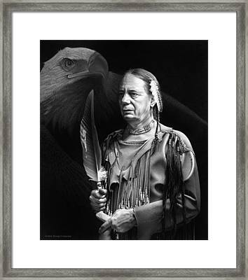 The Making Of A Chief Framed Print by Doug Comeau