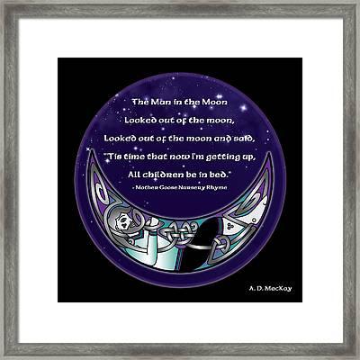 The Man In The Moon Framed Print by Celtic Artist Angela Dawn MacKay