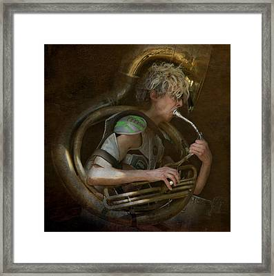 The Man - The Tuba Framed Print by Jeff Burgess