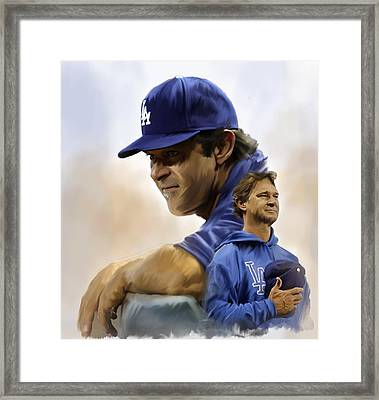 The Manager  Don Mattingly Framed Print by Iconic Images Art Gallery David Pucciarelli