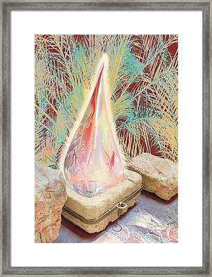 The Manger Is Empty But The Light Still Shines Framed Print by Jennifer Kathleen Phillips