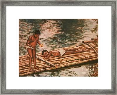 The Mango Eaters Framed Print by John Clark