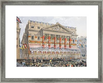 The Mansion House, 7th March, 1863 Framed Print by English School