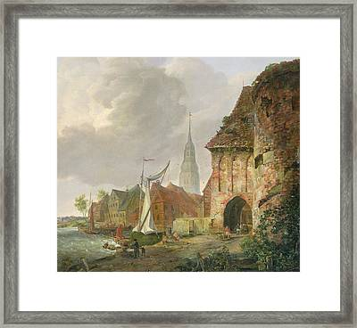 The March Gate In Buxtehude Framed Print by Adolph Kiste