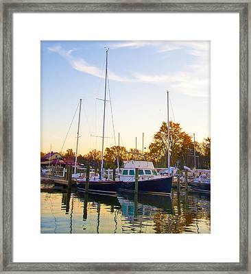 The Marina At St Michael's Maryland Framed Print by Bill Cannon