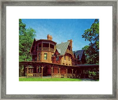 The Mark Twain House - Hartford Framed Print by Mountain Dreams