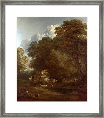 The Market Cart Framed Print by Thomas Gainsborough