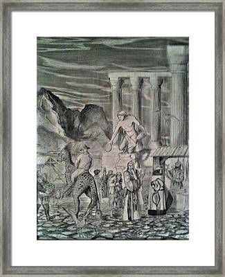The Market Place Framed Print by George Harrison